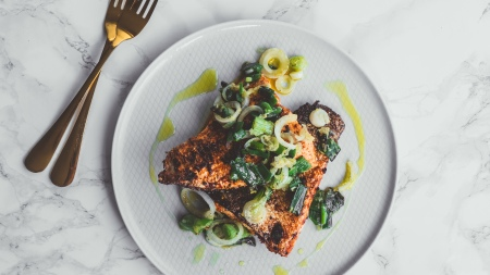 Salmon with Greens - Recipe - Food Blog