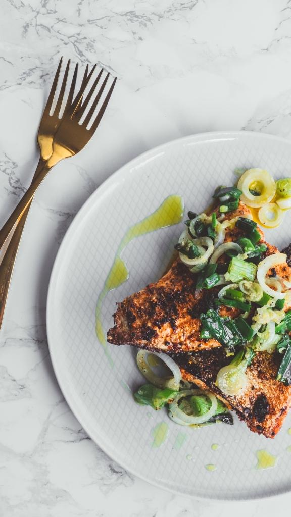 Salmon with Greens - Recipe - Food Blog