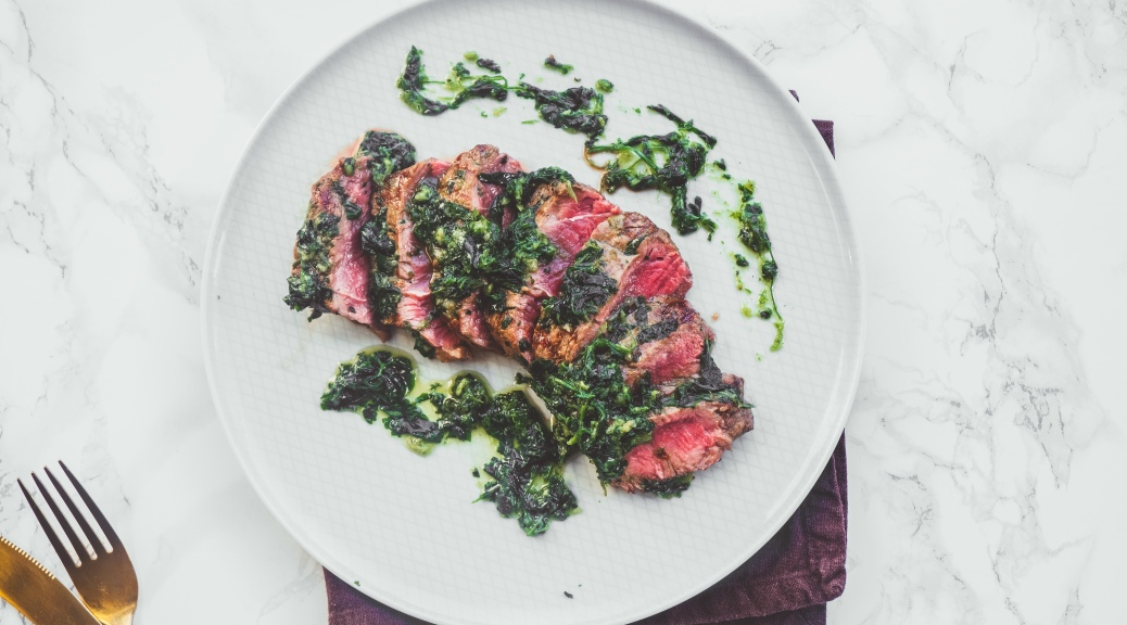 Steak with Chimichurri - Recipe - Food Blog